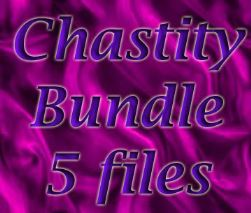 Chastity by hypnosis - bundle of 5 files combining it with tease and denial